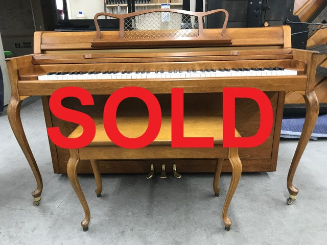 sold - 1972 fully serviced Yamaha upright piano and bench in walnut finish